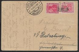 1921 DR Seepost 2 X 20Pfg Germania Stettin Nach Helsingsfor - Posti-Post - Deutschland