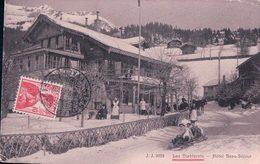 Les Diablerets VD, Hôtel Beau-Séjour, Partie De Bobsleigh Et Attelage, Traineau Avec 2 Chevaux (9918) Plis Dangle - VD Vaud