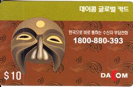 AUSTRALIA - Dacom Prepaid Card $10, Exp.date 31/12/06, Used - Australia