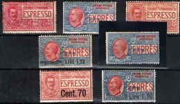 Italia (urgente) Nº 15/16, 1/2, 6/7 Y 11. Año 1903/25 - Correo Urgente