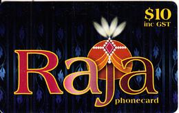 AUSTRALIA - Raja Prepaid Card $10, Used - Australia