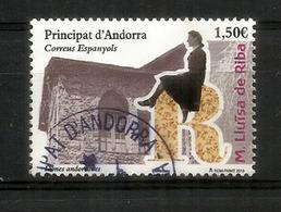 Dones Andorranes. Maria Lluisa De Riba (Femme Célèbre Andorrane). Un Timbre Oblitéré, 1 ère Qualité. Haute Faciale - Gebraucht