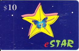 AUSTRALIA - Butterfly, EStar Prepaid Card $10, Used - Butterflies