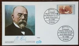 Allemagne - FDC 1982 - YT N°954 - Découverte Du Bacille De La Tuberculose / Robert Koch - FDC: Buste