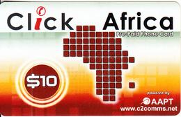 AUSTRALIA - Click Africa, C2 Comms By AAPT Prepaid Card $10, Used - Australia