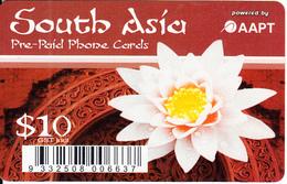 AUSTRALIA - Flower, South Asia, C2 Comms By AAPT Prepaid Card $10, Used - Australia