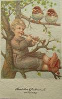 """Namenstag, Kinder, Trompete, Vogel"" 1939 ♥  - Feiern & Feste"