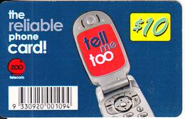 AUSTRALIA - ZOO Telecom Prepaid Card $10, Used - Australia
