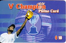 AUSTRALIA - Baseball, V Champion Prepaid Card $10, Mint - Australia