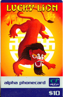 AUSTRALIA - Lucky Lion, Alpha Telecom Prepaid Card $10, Mint - Australia