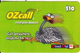 AUSTRALIA - OZcall By Cardcall Recharge Card $10, Used - Australia