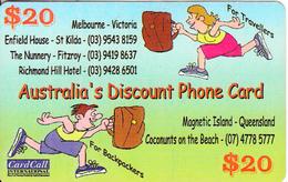 AUSTRALIA - Cardcall Recharge Card $20, Used - Australia