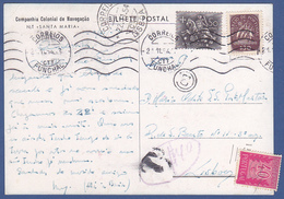 Postcard - Funchal, Madeira To Lisbon / Tax . PORTEADO - Postmark, Funchal 1954 - Briefe U. Dokumente