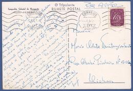 Postcard - Funchal, Madeira To Lisbon / Postmark - Funchal 1954 - Briefe U. Dokumente