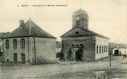 CHINY - L'Eglise Et La Maison Communale - Chiny