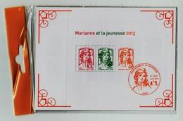 Bloc 133  Marianne Et La Jeunesse 2013 Et La Vème République Au Fil Du Timbre  Sous Blister - Ongebruikt