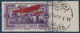 France Colonies Grand Liban Non émis N°11A(Maury 2009) Avec Cachet Beyrouth Pour Présentation Aux Officiels - Great Lebanon (1924-1945)