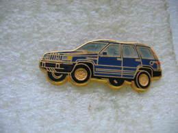 Pin's Ballard, Jeep De Chez Chrysler De Couleur Bleue - Badges