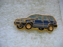 Pin's Ballard, Jeep De Chez Chrysler De Couleur Bleue - Pins