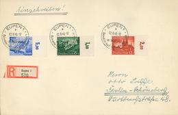 Eupen 1940 R-Brief Leipzig Malmedy Heimkehr Ins Grossdeutsche Vaterland         [PL-ROT 031] - Germany