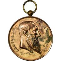 Belgique, Médaille, Léopold II, Musique, Festival D'Audregnies, 1909, TTB - Belgique