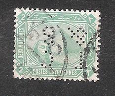 Perfin Perforé Firmenlochung Egypt YT 37 TC & S Thomas Cook And Son - 1866-1914 Khédivat D'Égypte