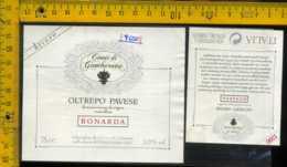 Etichetta Vino Liquore Bonarda 1996 Conti Di Gambarana-S. Maria La Versa - Etichette