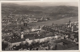 LINZ A.d.Donau - Flugaufnahme, Fotokarte Mit 4f. Ostmark Frankierung (Ank665-668), Gel.1940 - Linz