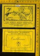 Etichetta Vino Liquore Trebbiano Di Pavarara Ristorante Guareschi - Roncole PR - Etiquetas