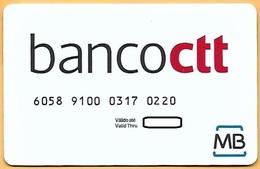 CREDIT / DEBIT CARD - BANCO CTT 001 (PORTUGAL) - Cartes De Crédit (expiration Min. 10 Ans)