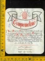 Etichetta Vino Liquore Campomolino 1978 Nino Franco-Valdobbiadene TV - Etichette