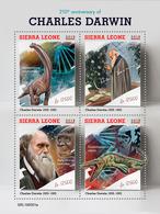 SIERRA LEONE 2019 - Darwin, Dinosaurs. Official Issue. - Préhistoriques