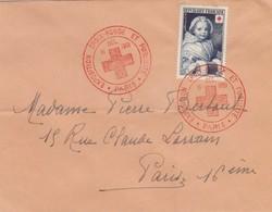 FRANCE - LETTRE CACHET COMMÉMORATIF EXPOSITION CROIX-ROUGE ET PUBLICITE  PARIS 15.12.1951 -  Yv N°915   /1 - Storia Postale
