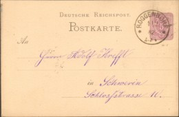 DR Ganzsache P 10 Von 1882 Aus Roggendorf - Germany