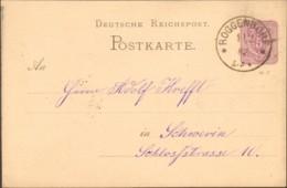 DR Ganzsache P 10 Von 1882 Aus Roggendorf - Covers & Documents
