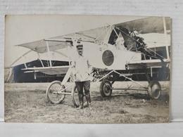 Carte Photo. Avion Militaire Et Pilote - 1914-1918: 1ste Wereldoorlog