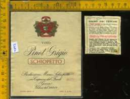 Etichetta Vino Liquore Pinot Grigio Schiopetto - Capriva Del Friuli GO - Etichette