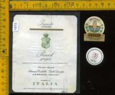 Etichetta Vino Liquore Pinot Grigio 1970 Barone Codelli - Cormons GO - Etichette