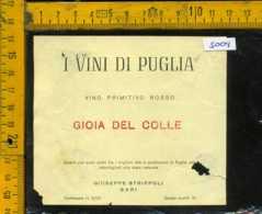 Etichetta Vino Liquore Primitivo Rosso Gioia Del Colle - Bari (forte Difetto) - Etichette