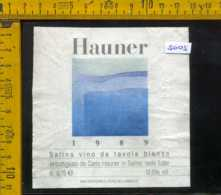 Etichetta Vino Liquore Hauner 1989 Carlo Hauner - Salina Isole Eolie - Etichette