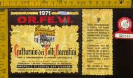 Etichetta Vino Liquore Gutturnio Dei Colli Piacentini 1971 - PC - Etichette