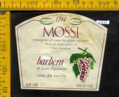 Etichetta Vino Liquore Barbera Di Ziano Piacentino Mossi - Ziano Pc. - Etichette