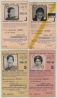 4 Cartes De Membre De La Section Sportive Du Racing Club De France . Volley-ball . Rugby . 1952-1960 . - Vieux Papiers