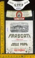Etichetta Vino Liquore Frascati 1971 Colle Papa Valle Vermiglia RM - Etichette