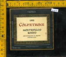 Etichetta Vino Liquore Montefalco Rosso 1995 Còlpetrone - Marcellano PG - Etichette