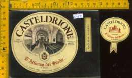 Etichetta Vino Liquore Casteldrione 1965 D'Alfonso Del Sordo - S. Severo FG - Etichette