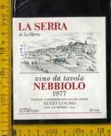 Etichetta Vino Liquore Nebbiolo 1977 Vinicola E. Cogno - La Morra - Etichette