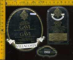 Etichetta Vino Liquore Gavi Di Gavi 1988 Villacosta-Castagnole Lanze AT - Etichette