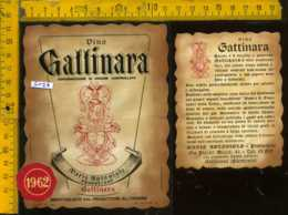 Etichetta Vino Liquore Gattinara 1962 M. Antoniolo - VC - Etichette