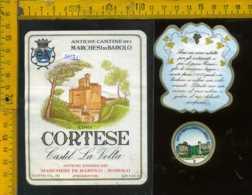Etichetta Vino Liquore Cortese Castel La Volta-Marchesi Di Barolo CN - Etichette